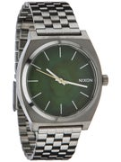 Nixon The Time Teller Watch  Gunmetal/Green Oxyde