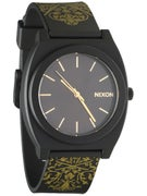 Nixon The Time Teller Watch  Black/Gold Ornate