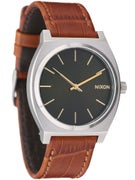 Nixon The Time Teller Watch Saddle Gator