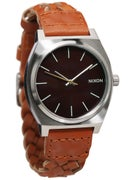 Nixon The Time Teller Watch  Dark Copper/Saddle Woven