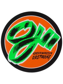 OJ Wheels 2 Speedwheels 6 Sticker\ Orange/Black
