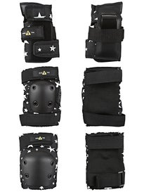One-Tri Youth Protective Set 3 Pack Black/White Stars
