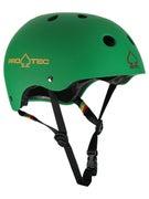 Protec The Classic Skateboard Helmet Matte Rasta Green