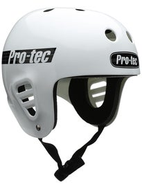 Protec The Full Cut Skateboard Helmet Gloss White
