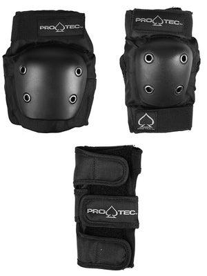Protec Junior Street Gear 3-Pack Safety Pad Set  Black