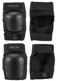 Protec Street Knee & Elbow Pad Set Black