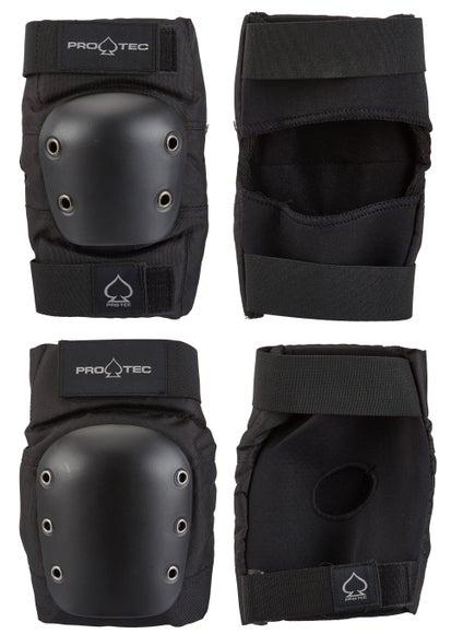Protec Street Knee & Elbow Pad Set Black