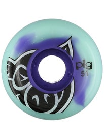 Pig Head Swirl Purple/Tiffany Wheels