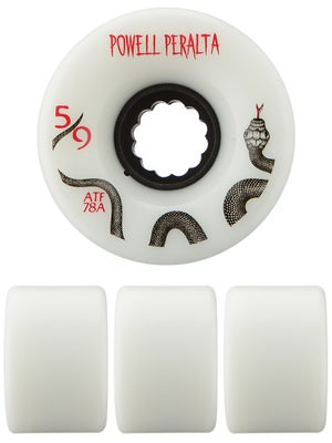 Powell All Terrain 78a White Wheels 59mm