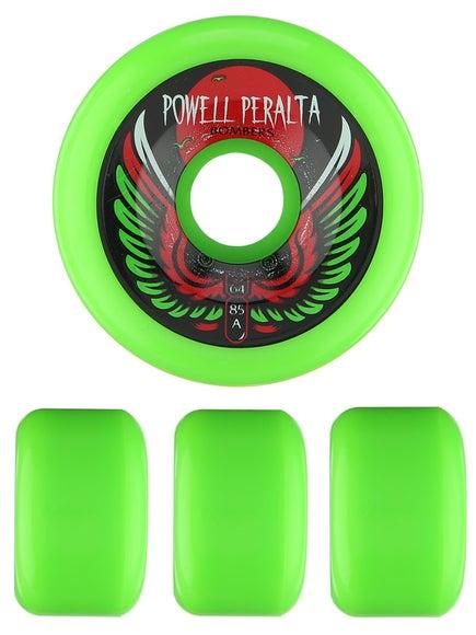 Powell Bombers 85a Wheels  Green