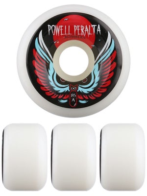 Powell White Bomber Wheels 60mm 85a