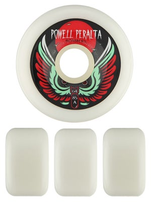 Powell White Bomber Wheels 64mm 85a