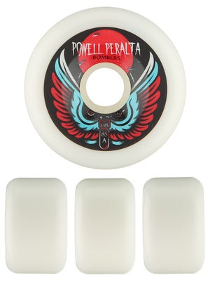 Powell White Bomber Wheels  68mm 85a