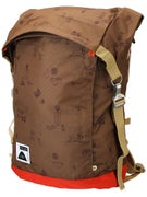 Poler Rolltop Backpack Campalogue Bison/Bright Red