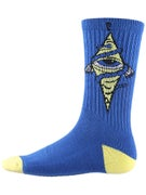 Psockadelic Bohemian Eye Socks  Blue/Yellow