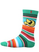 Psockadelic California Burrito Socks Green/Red/Blue