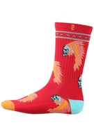 Psockadelic Ellington Socks  Red/Blue/Orange