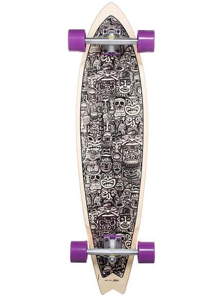 Palisades False Idols Purple Longboard 9.375 x 38