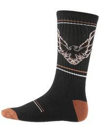 Psockadelic Hawk Fire Hawk Socks