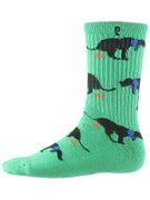 Psockadelic Keeper Socks  Green/Black