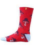 Psockadelic Mushroom Glow In The Dark Socks Red/Blue