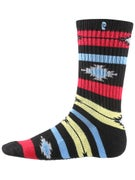 Psockadelic Native Stripe Glow In The Dark Socks