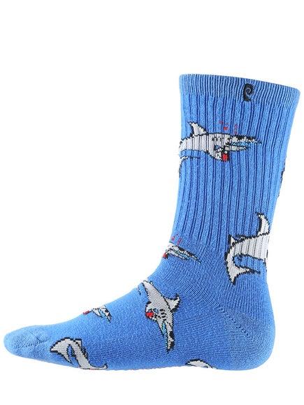Psockadelic Party Shark Socks