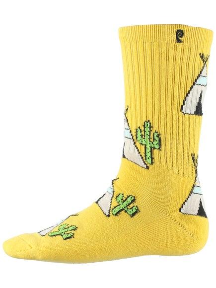 Psockadelic Peyoteepee Socks Yellow