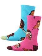 Psockadelic Trippin Socks  Pink/Blue