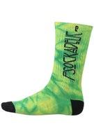 Psockadelic Zeppelin Socks Dk Green/Neon Yellow