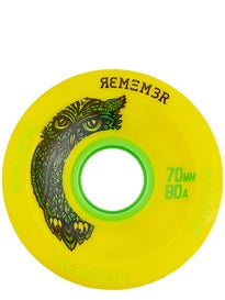 Remember Hoot 70mm Yellow Slide Wheels