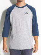 RVCA Two Color 3/4 Sleeve Baseball T-Shirt