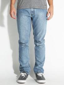 RVCA Daggers Denim Jeans  Bleached Indigo