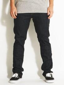 RVCA Daggers Denim Jeans  Deep Indigo