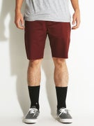 RVCA Dayshift Cutoff Shorts Red Earth