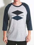 RVCA Double Up 3/4 Sleeve Baseball T-Shirt