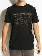 RVCA Ed Map T-Shirt