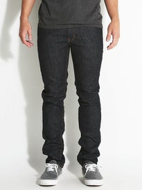 RVCA Hexed Denim Jeans  Deep Indigo
