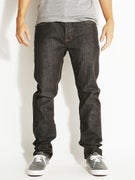 RVCA New Normal Denim Jeans  Distressed Black