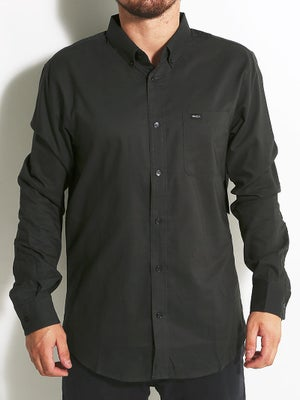 RVCA That'll Do Oxford L/S Woven Shirt LG Black