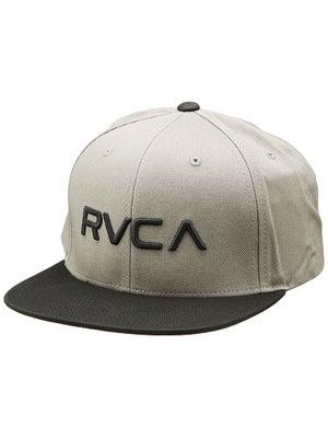 RVCA Twill Snapback II Hat Light Grey Adj.