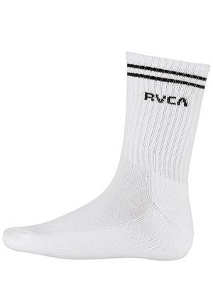 RVCA Union II Crew Socks White