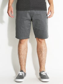 RVCA The Week-End Chino Shorts  Charcoal Heather