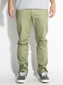 RVCA The Week-End Stretch Chino Pants Cadet Green