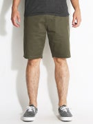 RVCA The Week-End Chino Shorts  Leaf