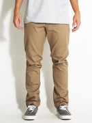 RVCA The Week-End Stretch Chino Pants Dark Khaki