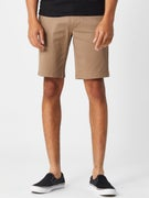 RVCA The Week-End Stretch Shorts Dark Khaki