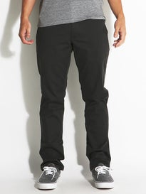 RVCA Week-End Stretch Templeton Chino Pants Pirate Blk
