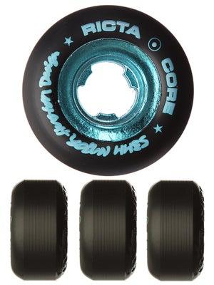 Ricta Huston All Star Black/Teal Chrome Core Wheels