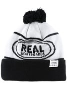 Real Oval Repeater Pom Beanie